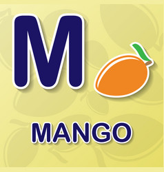 mango alphabet background vector image