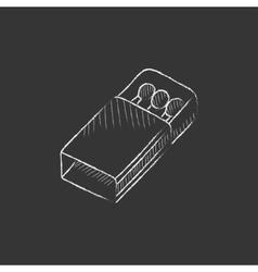 Matchbox Drawn in chalk icon vector
