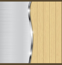 Metal and wooden combined background vector