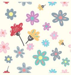 Modern floral seamless pattern vector