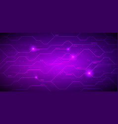 modern violett technology background with hi-tech vector image