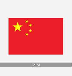 National flag china chinese country flag vector