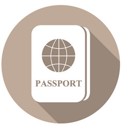 passport icon a long shadow vector image