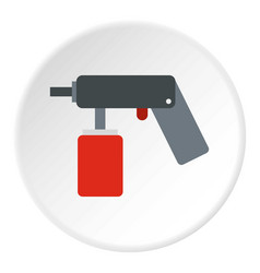 Pulverizer for painting icon flat style vector