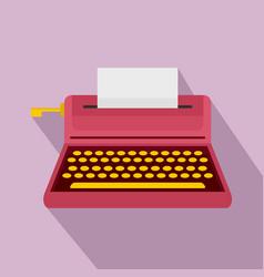 retro style typewriter icon flat style vector image