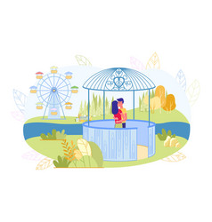 Romantic couple in love embracing and kissing vector
