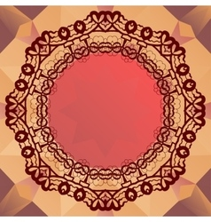 Round mandala frame for text oriental design vector image