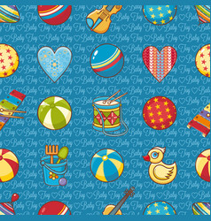 Seamless pattern baby toy cartoon styleabstract vector