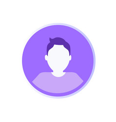 Social networking male icon vector