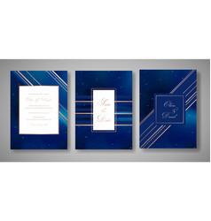 starry night sky trendy wedding invitation card vector image