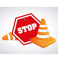 stop design vector image