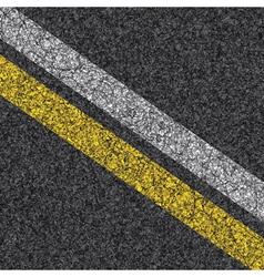 stripes on asphalt vector image