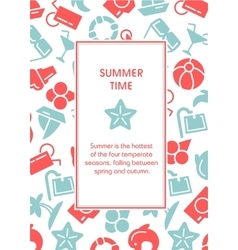 Summer time with icons vector image