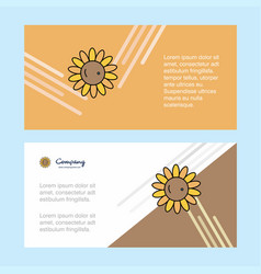 sunflower abstract corporate business banner vector image