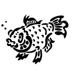 Tattoo of fish vector