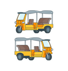 taxi in thailand concept vector image