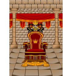 throne room vector image
