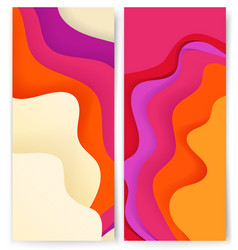 vertical banners template with abstract color vector image