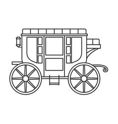 vintage carriage iconoutline line vector image