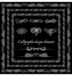 Vintage frames borders calligraphic and page vector