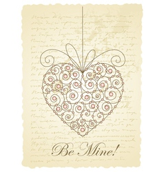 vintage love card vector image