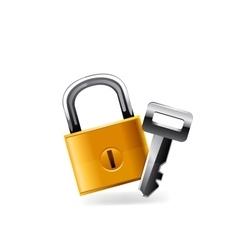 Web Lock icon vector