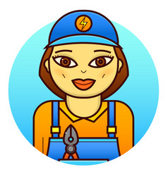 woman electrician vector image