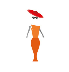 Woman in a red vector