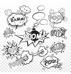 Comic boom set vector image vector image
