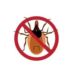 Symbol parasite warning sign Mite spider Mite vector image vector image
