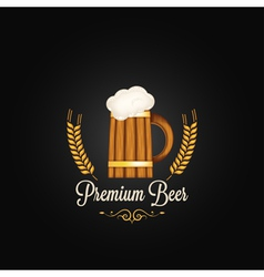 beer mug vintage design background vector image