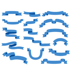 collection of ribbons - with blue - eps10 vector image vector image