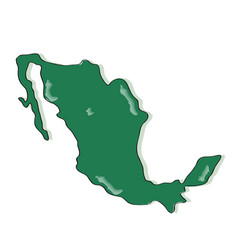 comic drawing of a map of mexico vector image
