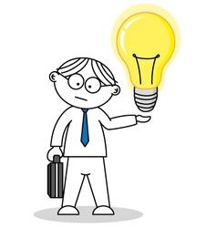 Creative having an idea vector image