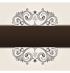 template for text vintage frame decorated vector image vector image