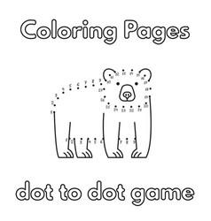 cartoon bear coloring book vector image vector image