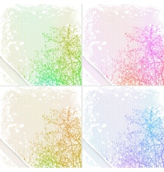 grunge tree background vector image vector image
