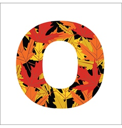 O Letter vector image vector image