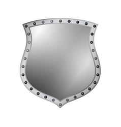 shield silver gray icon shape emblem vector image