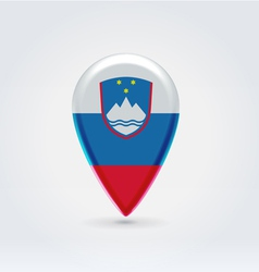 Slovenian icon point for map vector image vector image
