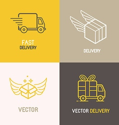 express delivery service logo vector image