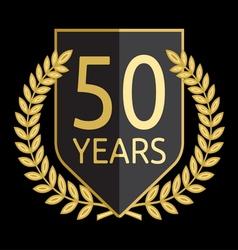 laurel wreath 50 years vector image vector image