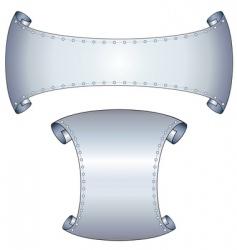 metallic scrolls vector image vector image