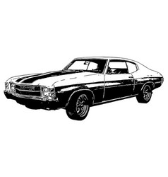 1970s classic muscle car with texture vector image