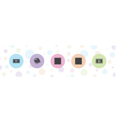 5 rug icons vector