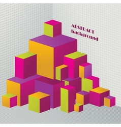 Abstract 3d cubes for design vector