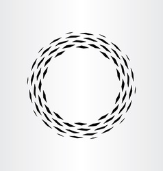 Abstract circle black background icon rotation vector