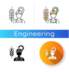 Agricultural engineer icon vector