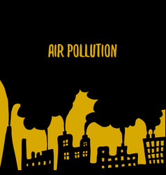 air pollution cartoon doodle vector image