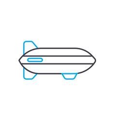 airship thin line stroke icon airship vector image